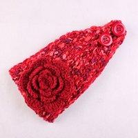 beautiful turbans - Women s fashion knit crochet wool warm beautiful three flower headband turban headdress