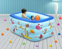 Wholesale Cartoon Meters Baby Swimming Pool Children s Inflatable Fishing Pond Baby Toys pool