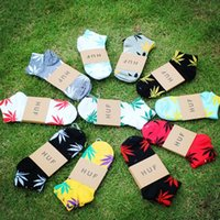 beauty colleges - NEW fashion beauty maple leaf adult s socks combed Cotton lovers short socks colorful flower socks mixedlot