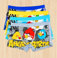Cotton Mini Boxers Briefs - LJJL248 Boy Cartoon Cotton Angry Bird Briefs Boxers Underwear Breathable Antibacterial Underpants Knickers Colors