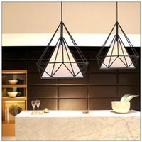 art deco bracket - New arriving LED Chandelier droplight celling lamp pendent lamp black color with Iron bracket new style via DHL