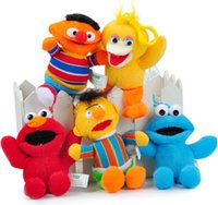 Wholesale 5pcs Small Pendant Sesame street Plush Toys Children s small Plush Doll toy Adult bags Pendant
