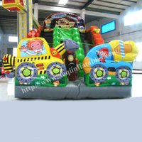 kids indoor play equipment - AOQI indoor playground equipment inflatable slide kid playground car inflatable water slide giant slide for amusement