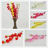 venda por atacado artificial flowers wholesale-Atacado 60cm / 24inch ramos artificiais de pêssego flor de cerejeira de seda flores casa decoração flor de casamento