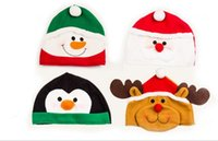 baby holiday hats - Christmas holiday party Decoration hats Xmas caps Santa Claus hat adults children kids baby Christmas Cosplay cute Hats gift JF