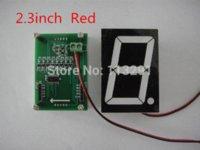 Wholesale high quality inch single Digit Seven Segment Clock Red LED Numeric Digital Display