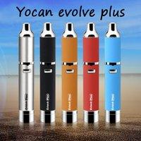 Wholesale Authentic Yocan Evolve PLUS Kit mAh Evolve Vaporizer Dry Wax Vaporizer Pen Yocan Evolve D Kit Quartz Dual Coil E cigarette Kits