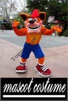 Wholesale Professional Crash Bandicoot Mascot Head Costume school mascots cartoon character costumes movie costumes for kids party supply