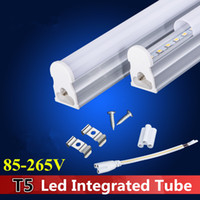 Wholesale T5 m Integrated Tube ft W ft ft Led Tube Light SMD LED Fluorescent Light feet Tubes Warm Natrual Cool White AC85 V