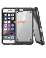Pour iphone 7 6 6S plus 5S antichoc Clear PC Hybride TPU Bumper Back Cover Transparent Armor Case pour iphone7 sac de détail