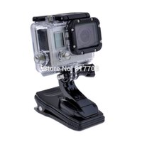 Wholesale Tripod Accessories Tripods Quick Release Go pro Sj4000 Accessories Rotary Backpack Hat Clip Fast Clamp Mount For GoPro Hero