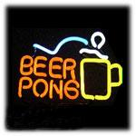 beer pong lights - Hot Beer Pong Neon Sign Commercial Custom Sign Bar Lights Neon Light Real Glass Tube Sign KTV Club PUB Sport Sign quot X14 quot