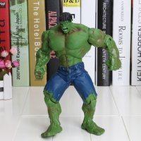 best marvel movies - The Avengers Marvel Super Hero The Angry Hulk Movie Action Figure Toy Lifelike Doll inch PVC Model Dolls Movable Kids Best Gift