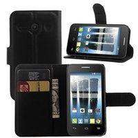 alcatel cellphone - Lichi PU Leather Wallet case for Alcatel Evolve OT4037 Protective Stand with Card Slot Cellphone Cover for Elephone Colorful