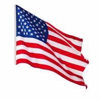 Wholesale 90cmX150cm Opular Jumbo x5 FT Polyester American Flag USA US Be Proud Show off Your Patriotism