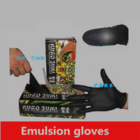 Wholesale Pic Tattoo Black Emulsion Disposable Gloves for Tattoo Accesories Supply S M L size