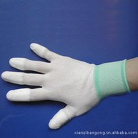 Wholesale Nylon coated gloves antiskid abrasion resistant insulating coated nylon gloves anti static breathable gloves