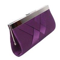 Wholesale 2016 Hot Noble Ladies Clutch Purse Chain Handbags Women Evening Bag Purple Bride Wedding Party Purse Clutch bolsas mujer XA187C
