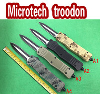 aluminum aviation models - Factory direct microtech NEW troodon A161 knife camping survival hunting knife Aviation aluminum handle blade models
