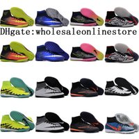 Wholesale 2016 Hot Men MercurialX Proximo II TF IC cr7 soccer shoes indoor superfly hypervenom II Football Boots neymar boots High Ankle soccer cleats