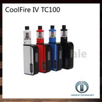 Cheap Innokin Coolfire IV TC 100 Kit With Cool Fire IV TC100 3300mah TC 100W Mod Battery Aethon Chipset 3ml iSub V Tank 100% Original