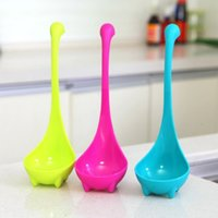 Wholesale Nessie Ladle Vertical Long Handle Plastic Spoons Dinosaurios Loch Ness Monster Nessie Spoons B0770
