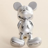 Wholesale Silver Cartoon Mickey Mouse Furniture Handles Pulls Kids Bedroom Furniture Dresser Knobs for Kitchen Cabinet Furniture Pulls
