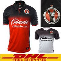 e63352b4b Men Polyester Striped DHL Free shipping 2017 2018 Tijuana Home Soccer  Jerseys 1718 Mexico Club Xolos