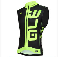 Wholesale New Arrivals Fluorescent yellow ALE Cycling Jersey Mtb Bicycle Clothing Bike Clothes vest Maillot Ropa De Ciclismo