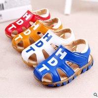 Wholesale Most Fashionable Children s Boys Comtable Skid Resistance Foothold Shoes Babys Krozen Style Soft Soled Shoes Childrens Baotou TPR Shoes