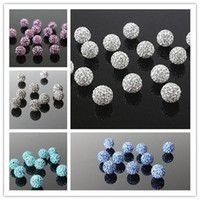 assorted czech beads - Czech Crystal Rhinestone Shamballa Disco Ball Micro Pave Spacer Beads DIY Jewelry Making Supplies Large Stocks Assorted Colors mm