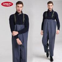 Wholesale Thousands of rain water fishing pants pants knitted pants Siamese rain pants thickened farming fishing pants pants wading Pant