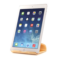 Wholesale 2016 New SAMDI Real Wooden Mobile Tablets Stand Holder for iPad Air For Galaxy Tab Note Tab2 Two Colors