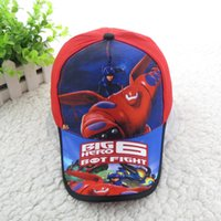bay animation - Cotton Big hero Marvel Movie Cartoon Animation Baymax Bay Max Robot baseball sport caps Snapback hat for Child Kids Boy gift