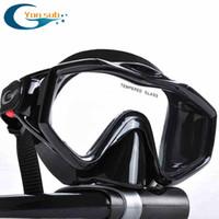 Wholesale professional Scuba Diving Equipment Dive Mask Dry Snorkel Set black