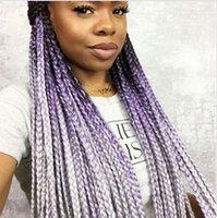 Wholesale Grey Ombre Jumbo Braid Hair UK Seller Boxbraids for Africa Women full head