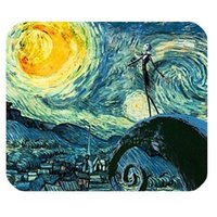 Wholesale General High Quality Mystic Zone The Nightmare before Christmas Jack Skellington Rectangle Mouse Pad Black Size x in x cm