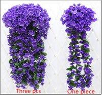 artificial plants sale - Romantic Artificial Flowers Simulation silk violet Wedding Decorations Plant Bouquet Wedding Garden Decoration on hot sale low price