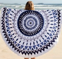 Wholesale 20 Types Cotton Round Beach Towel cm Bath Towel Tassel Decor Geometric Printed Bath Towel Summer Style beach cover ups