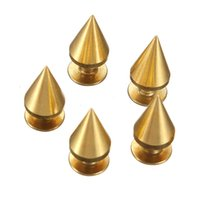 Wholesale New mm Metal Gold Cone Spikes Screwback Studs Rivet Belt Jewelry Bracelet Leather Bag Clothing Leather Craft DIY