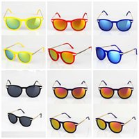 aluminum flashing sheet - New Fashion Womens Mens Flash Mirror Sunglasses Summer Metal Hinge Sunglass Color Texture Flocking Sheeting DHL lh2
