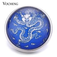 Cheap VOCHENG NOOSA Wholesale 18mm Chinese Dragon Glass Snap Button Jewelry Vn-1162