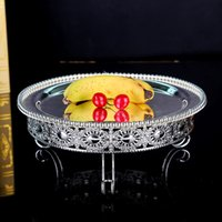 Wholesale 1 Zinc alloy bead point multi layer cake plate The new home decoration tableware Afternoon tea cake plate