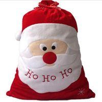 big ho - ASLT Christmas Day Decoration Santa Large Sack Stocking Big Gift bags HO HO Christmas Santa Claus Xmas Gifts HJIA934