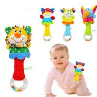 baby rattles and teethers - Animal hand bar bell and baby teethers rattles baby plush toy and hand bell baby toys WJ093