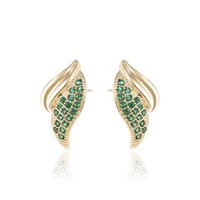 Wholesale Love Wings Stud Earrings for Women Mix Color Zirconia Ear Stick With K Gold Plated Xuping Brand Fashion Jewelry for Party