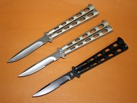 best serrated knife - Benchmade S Balisong Knives Cr13Mov HRC Titanium Serrated Blade Outdoor Tactical Hunting Survival Pocket Knives Best Gift with Box