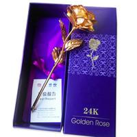 24k gold rose - Creative Valentine s day gift Birthday wedding gift k golden rose lover s flower Gold Dipped Rose Eternal Love