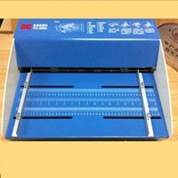 Wholesale Blue New inch mm Electric Creaser Scorer Perforator in1 combo Paper Creasing Perforating Function Machine