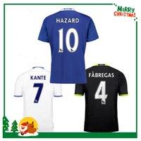Wholesale Chelsea Jersey Shorts - 16 17 Chelsea soccer jersey 2016 2017 HAZARD home PEDRO PATO ZOUMA DIEGO COSTA WILLIAN FALCAO FABREGAS Chelsea football soccer shirts